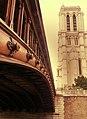 Pont au Double and tower of Notre-Dame de Paris, 6 June 2013.jpg