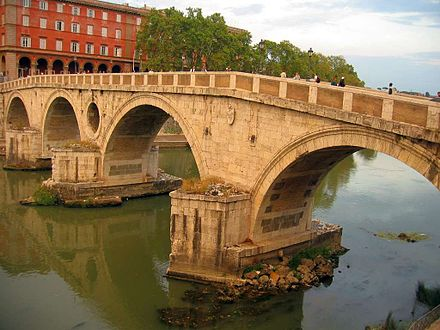 Ponte Sisto, the first bridge built at Rome since the Roman Empire Ponte Sisto, Rome.jpg