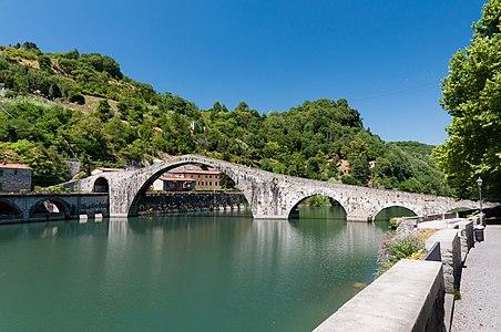 The Ponte della Maddalena in Tuscany