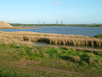 North Kent Marshes - Cliffe pools with a bird population, the site is still used for mineral extraction