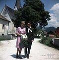 Poroka v Vitanju. Camar in družica iz Rakovca 1963.jpg