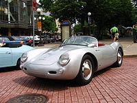 Porsche 550 Spyder parked