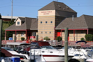 Portage, Indiana - The Sammie L. Maletta Public Marina.