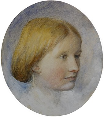 Rose La Touche, as sketched by Ruskin Portrait of Rose La Touche 1861 2.jpg