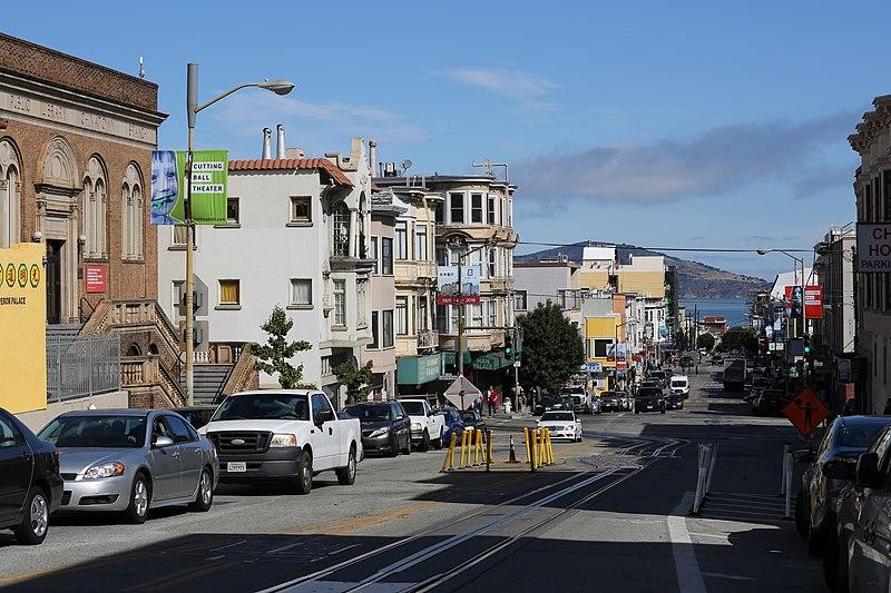 File:Powell Street, San Francisco with Angel Island.JPG