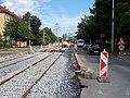 Průběžná, rekonstrukce TT, zastávka Radošovická (01).jpg