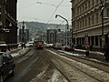 Praha, Staré Město, sníh před Národním divadlem.JPG