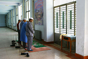 Prayers at Dongguan mosque, Xining, Qinghai, China