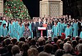 """President Ronald Reagan and Nancy Reagan attending a taping session for NBC's """"Christmas in Washington"""" Show.jpg"""