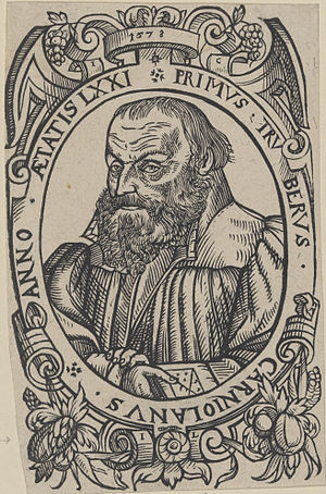 Primož Trubar - Primož Trubar, woodcut by Jacob Lederlein, 1578