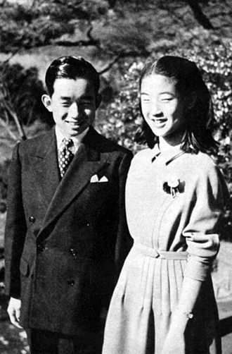 Masahito, Prince Hitachi - With Princess Takako (1952)