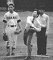 Prince Naruhito throwing a ball.jpg