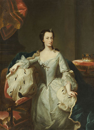 Princess Mary of Great Britain - Portrait by George Desmarées