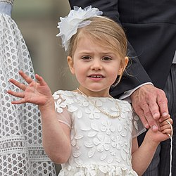 La princesse Estelle de Suède en 2016.