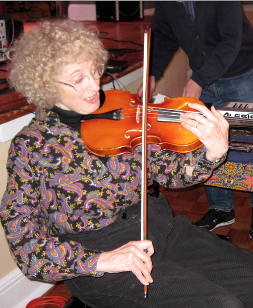 Priscilla McLean performing altered violin