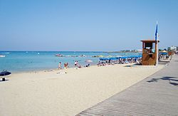 Protaras beach at Paralimni in the Republic of Cyprus.jpg