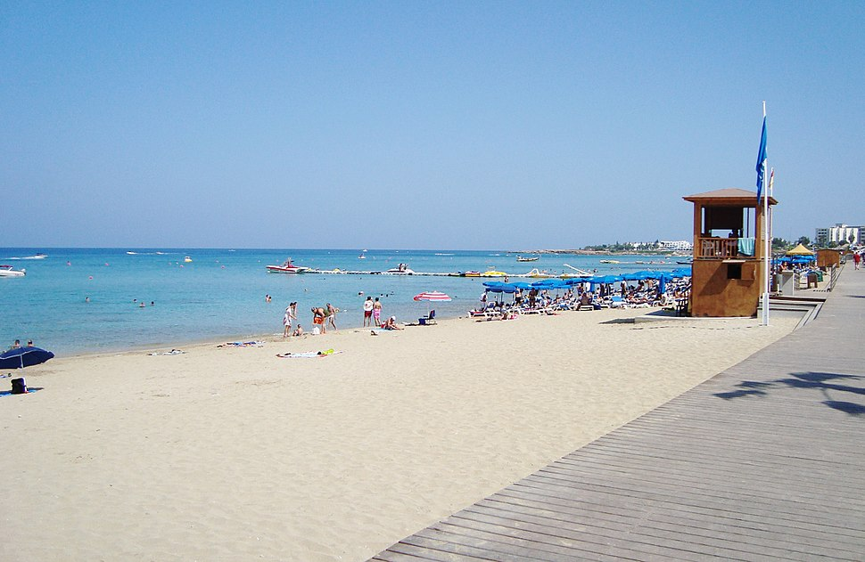 Protaras beach at Paralimni in the Republic of Cyprus