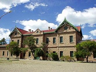 Puerto Deseado - Puerto Deseado's old train station (2003)