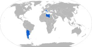 Puma (AFV) - Map of Puma AFV operators in blue