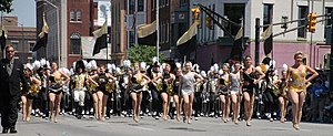 Purdue All-American Marching Band - Purdue's All-American Marching Band in the 2015 500 Festival Parade in Indianapolis, Indiana