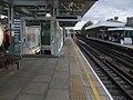 Putney Bridge stn westbound platforms Fulham FC access open.JPG