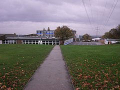 Pylons and Thornhill Community Academy (geograph 3813920).jpg