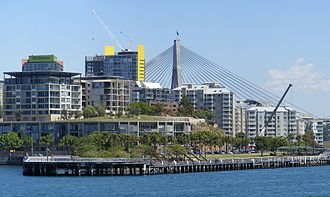 Pyrmont, New South Wales - Skyline of Pyrmont featuring the ANZAC Bridge