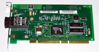 Host adapter - Fibre Channel host bus adapter (a 64-bit PCI-X card)