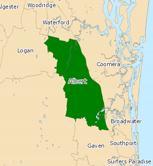 Electoral district of Albert - Image: QLD Albert 2008