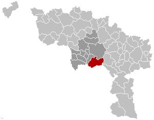 Quévy - Image: Quévy Location