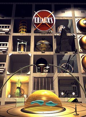 Computer graphics - Quarxs, series poster, Maurice Benayoun, François Schuiten, 1992