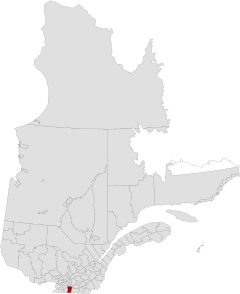 Quebec MRC Le Haut-Richelieu location map.svg