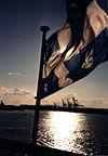 The Fleurdelisé leads a ship to harbour near Quebec City.