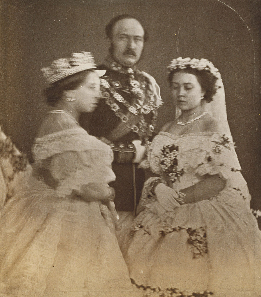 file queen victoria the prince consort and victoria princess royal in the dress they wore at. Black Bedroom Furniture Sets. Home Design Ideas