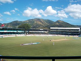 A view of the playing area of the Queen's Park Oval in Trinidad and Tobago