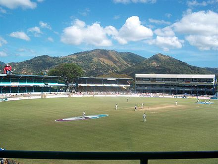 A modern photograph of Queen's Park Oval, Trinidad and Tobago's home ground