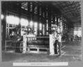 Queensland State Archives 3412 Rocklea workshops plate rolls Brisbane 6 April 1936.png