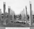 Queensland State Archives 3651 South approach reinforced concrete column construction looking north Brisbane 29 April 1936.png
