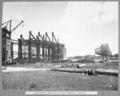 Queensland State Archives 3894 South anchor arm erection and dismantled tower traveller Brisbane 15 November 1938.png