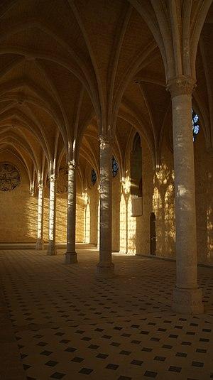 Réfectoire of the Saint-Jean des Vignes abbey, Soissons, France