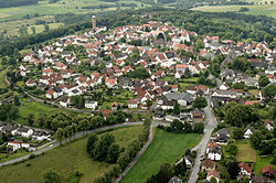 Aerial photograph of Rüthen