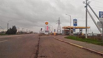 Henichesk - Image: R47 Road in Henichesk