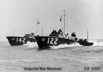 Operation Collar (commando raid) - Royal Air Force air sea rescue boats off Dover