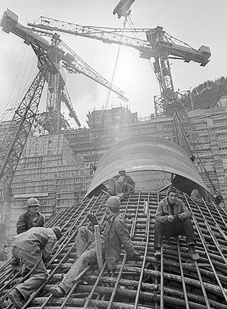 Sayano–Shushenskaya Dam - Construction of the Sayano–Shushenskaya Dam, 1978