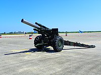 ROCA M114A1 155mm Howitzer Display at Chih Hang Air Force Base Apron 20130601.jpg