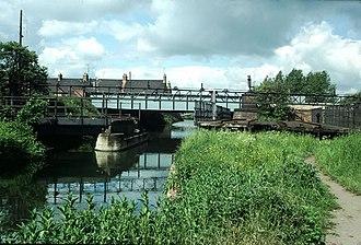 Sheepwash Channel - Image: Rail swing bridge , Oxford geograph.org.uk 1610161