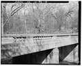 Railing detail, looking northwest. - Pendleton Avenue Bridge, Spanning Fall Creek, Pendleton, Madison County, IN HAER IND,48-PEN,1-15.tif