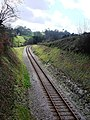 Railway track, curving round towards Hook Bottom, Greenway road - geograph.org.uk - 368939.jpg
