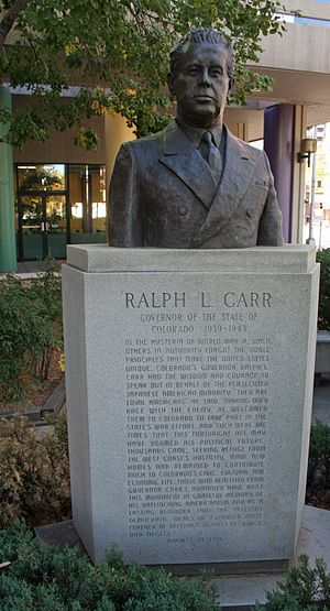 Ralph Lawrence Carr - Bust of Ralph L. Carr, Sakura Square