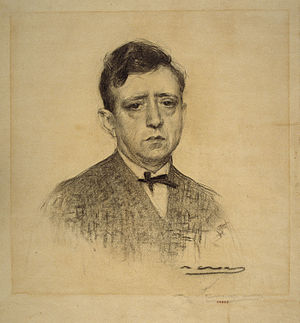 Ricard Opisso - Opisso seen by Ramon Casas (MNAC).